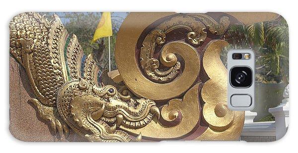 Wat Chedi Liem Phra Ubosot Makara And Stylized Naga Dthcm0838 Galaxy Case