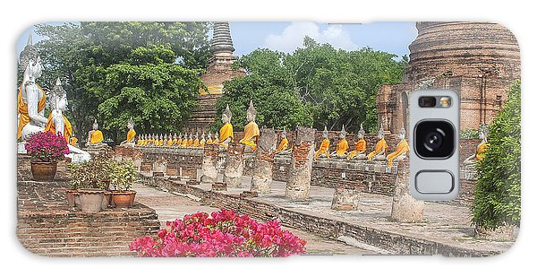 Wat Phra Chao Phya-thai Buddha Images And Ruined Chedi Dtha004 Galaxy Case