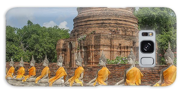 Wat Phra Chao Phya-thai Buddha Images And Ruined Chedi Dtha005 Galaxy Case