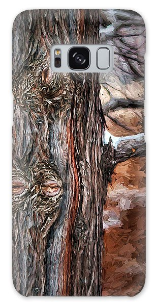 Sly Galaxy Case - Watcher In The Woods - Tree With Knothole Eyes - Pareidolia  by Nikolyn McDonald