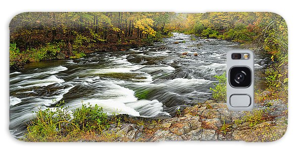 Watching It All Go By  At Beaver's Bend Broken Bow Fall  Foliage Oklahoma Galaxy Case