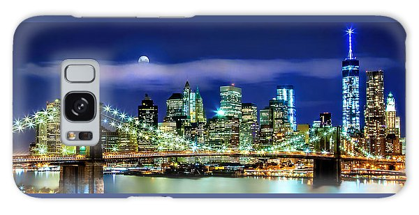 Famous Artist Galaxy Case - Watching Over New York by Az Jackson