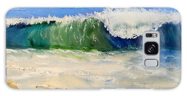 Watching The Wave As Come On The Beach Galaxy Case
