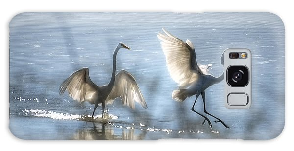 Egret Galaxy Case - Water Ballet  by Saija  Lehtonen