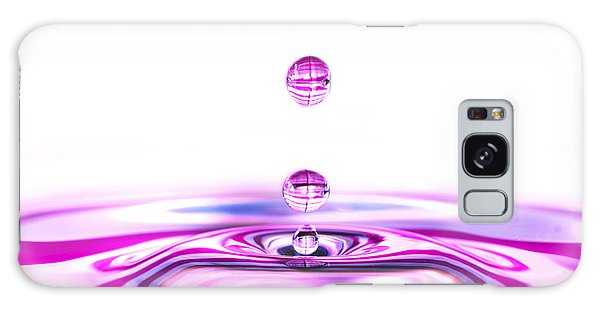 Water Droplets White And Purple Galaxy Case by Sabine Jacobs
