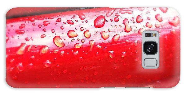 Detail Galaxy Case - Water Drops On Red Car Paint by Matthias Hauser