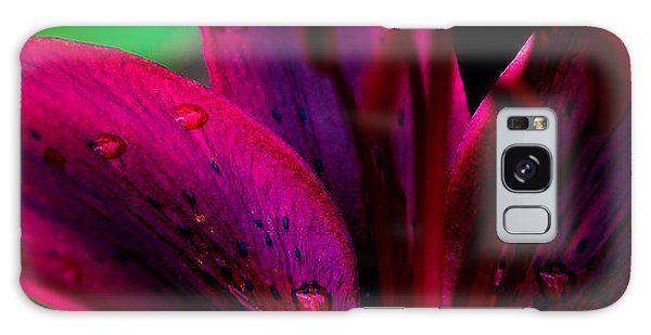 Water-drops On The Petal Galaxy Case by Shelby  Young