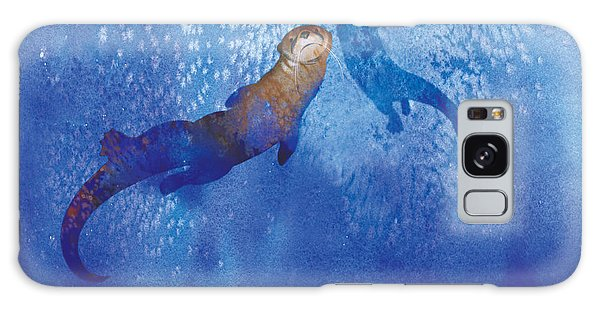 River Otter Galaxy Case - Water For Otters by Tracy Herrmann
