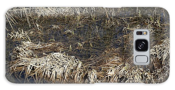 Dried Grass In The Water Galaxy Case
