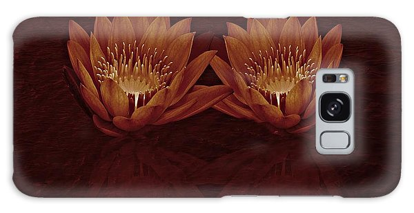 Water Lilies In Deep Sepia Galaxy Case