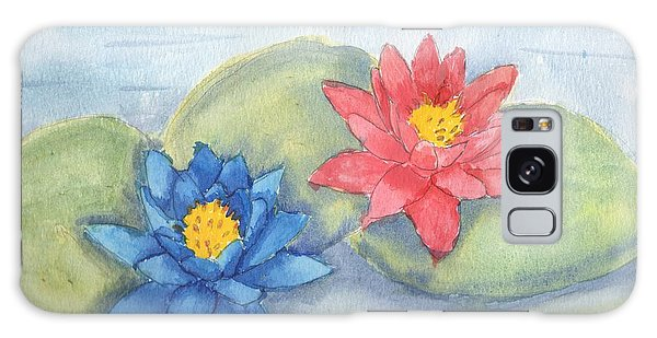 Water   Lillies  Galaxy Case by Pamela  Meredith