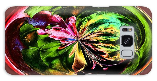 Water Lily Abstract Art Galaxy Case by Annie Zeno