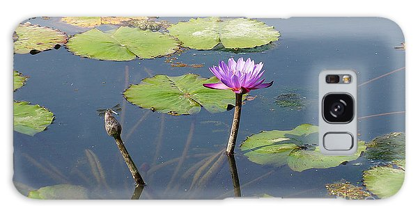Water Lily And Dragon Fly One Galaxy Case by J Jaiam