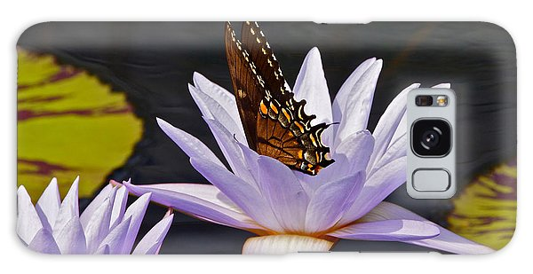 Water Lily And Swallowtail Butterfly Galaxy Case