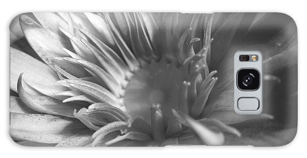 Water Lily B N W Galaxy Case