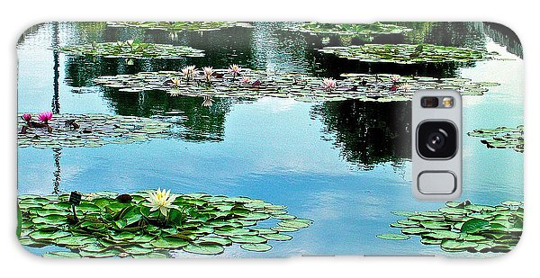 Water Lily Garden Galaxy Case by Zafer Gurel