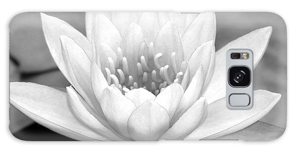 Water Lily In Black And White Galaxy Case