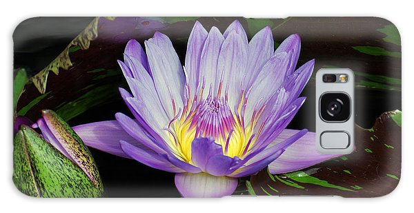 Water Lily Leopardess Galaxy Case