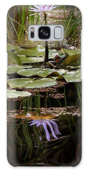 Water Lily Reflection Galaxy Case by Joseph G Holland