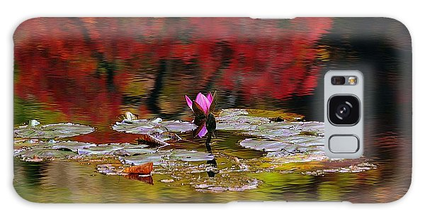 Water Lily Reflection Galaxy Case by Lisa L Silva