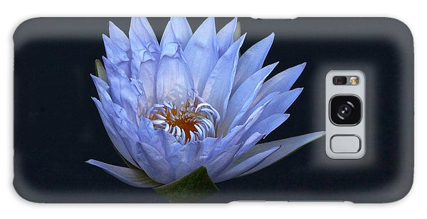 Water Lily Shades Of Blue And Lavender Galaxy Case