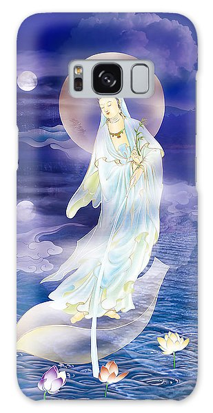 Water Moon Avalokitesvara  Galaxy Case