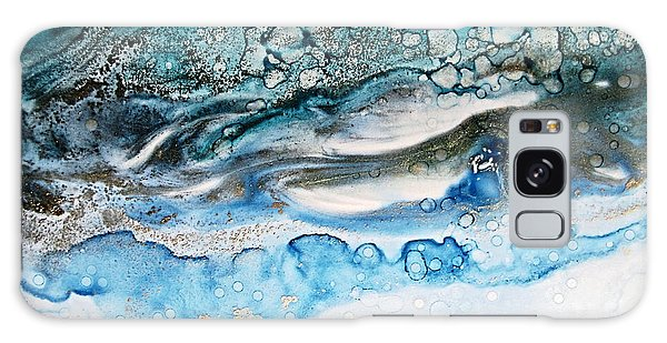 Water Ripples And Silver Linings Alcohol Inks Galaxy Case