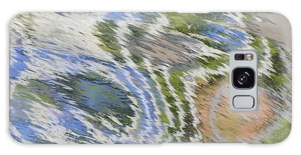 Water Ripples In Blue And Green Galaxy Case