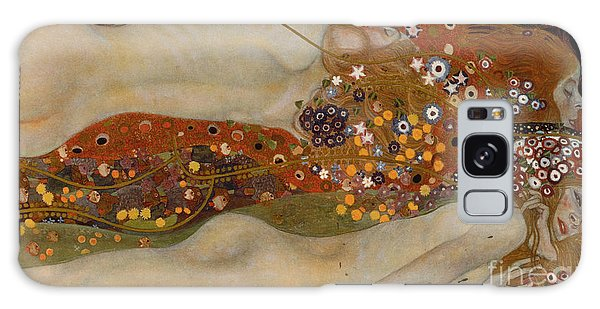 Symbolism Galaxy Case - Water Serpents II by Gustav Klimt