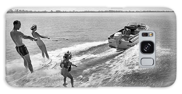 Powerboat Galaxy Case - Water Skiing At Cypress Garden by Underwood Archives