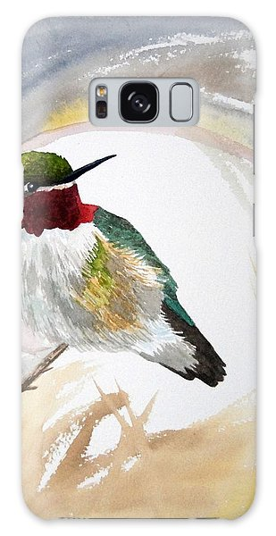Watercolor - Broad-tailed Hummingbird Galaxy Case