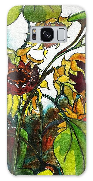 Sunflowers On The Rise Galaxy Case