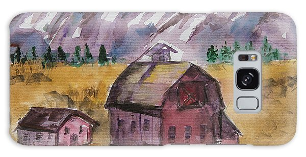 Barn In Montana Galaxy Case
