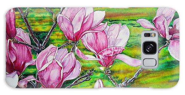 Watercolor Exercise Magnolias Galaxy Case