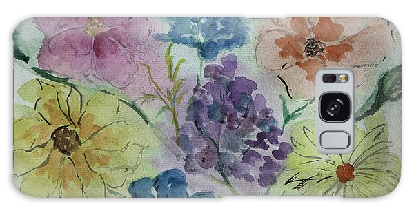 Pastel Flowers Galaxy Case