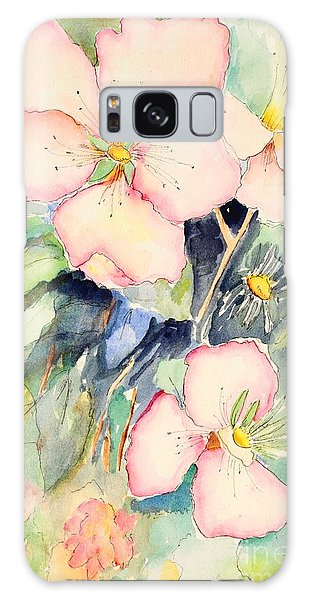 Watercolor Flowers Galaxy Case by Pattie Calfy