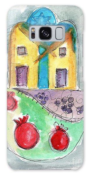 Grape Galaxy Case - Watercolor Hamsa  by Linda Woods