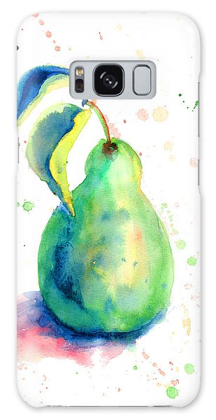 Watercolor Illustration Of Pear  Galaxy Case