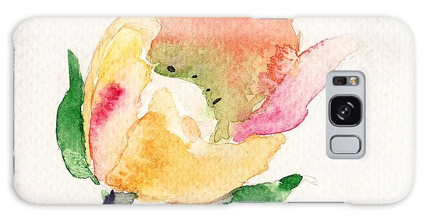 Watercolor Illustration With Beautiful Flower  Galaxy Case