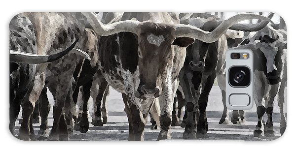Texas Galaxy Case - Watercolor Longhorns by Joan Carroll