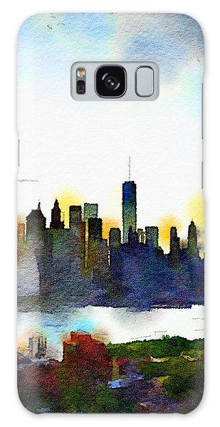 Watercolor Manhattan Galaxy Case