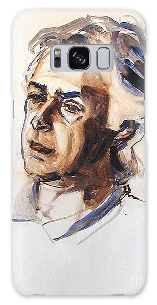 Watercolor Portrait Sketch Of A Man In Monochrome Galaxy Case