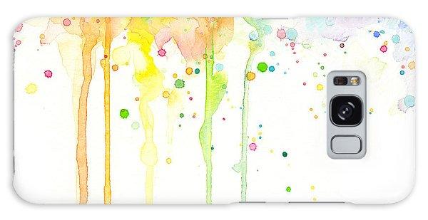 Rainbow Galaxy Case - Watercolor Rainbow by Olga Shvartsur