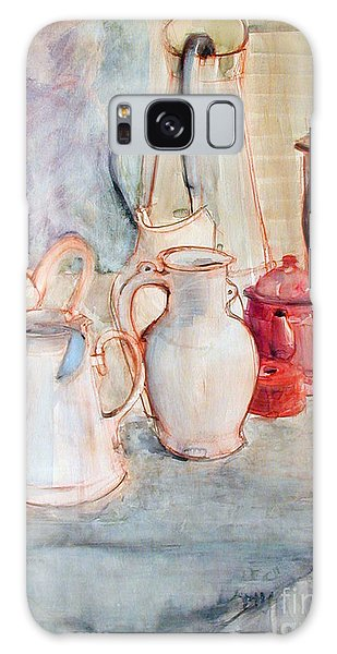 Watercolor Still Life With Red Can Galaxy Case