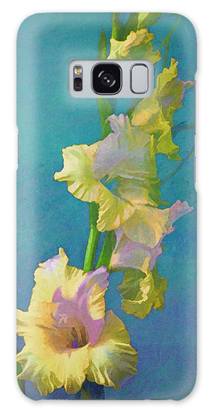 Watercolor Study Of My Garden Gladiolas Galaxy Case