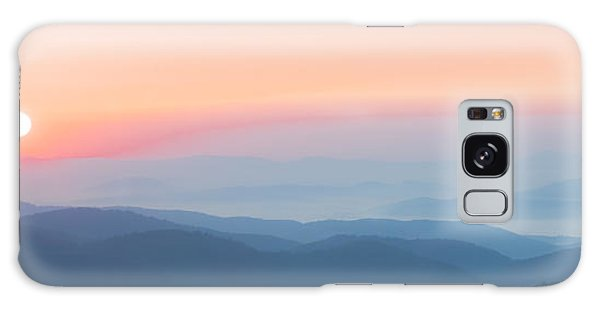 Watercolor Sunrise In The Blue Ridge Mountains Galaxy Case