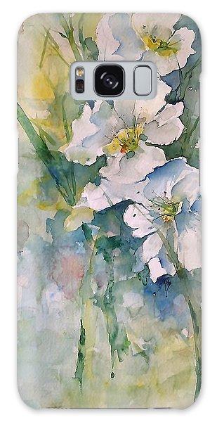 Watercolor Wild Flowers Galaxy Case