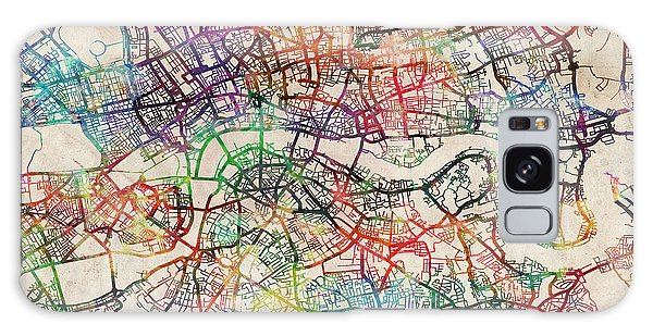 City Map Galaxy Case - Watercolour Map Of London by Michael Tompsett