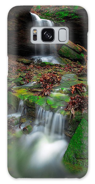 Frankfort Mineral Springs Waterfall  Galaxy Case