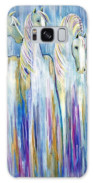 Waterfall Abstract Horses Galaxy Case